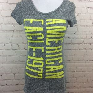 American Eagle Heather Gray T Shirt Size XS